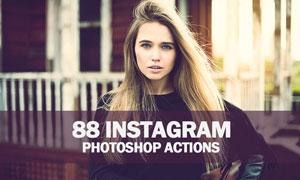 88款Instagram系列复古艺术效果PS动作