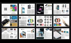 苹果数码产品画册设计矢量素材