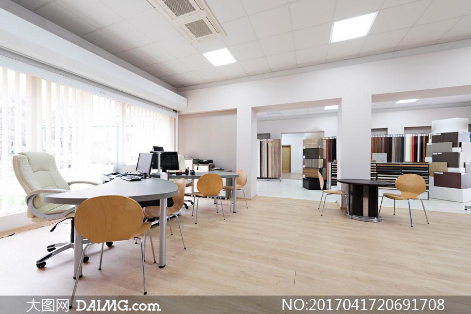装饰工程公司办公区域摄影高清图片