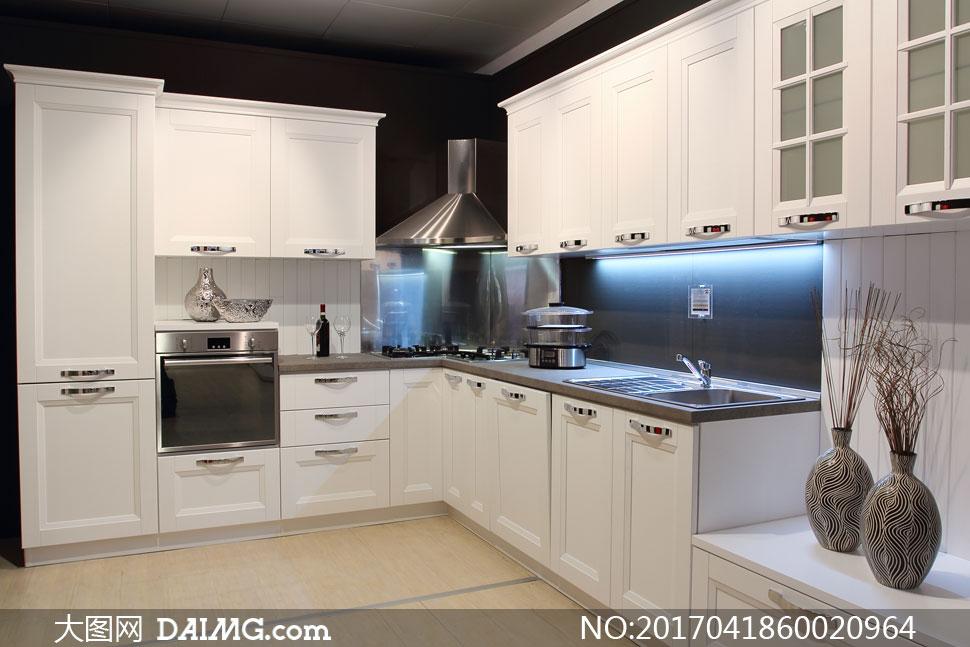 家装渲染图家居家具装修效果图装潢房间厨房灯光照明干枝橱柜吊柜地柜