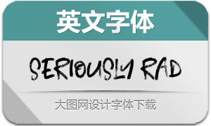 SeriouslyRad(英文字体)