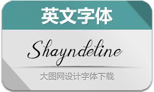 Shayndeline(英文字体)