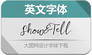 Show&Tell(英文字体)
