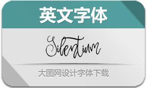 Silentium(英文字体)