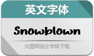 Snowblown(英文字体)