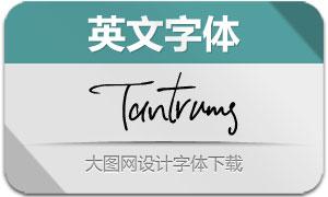 Tantrums(英文字体)