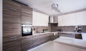 现代简约厨房装修实景效果高清图片