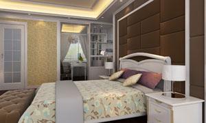 书房卧室装饰设计渲染效果高清图片