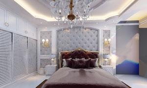 大空间卧室的布置陈设效果高清图片