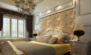 卧室房间灯光氛围营造效果高清图片