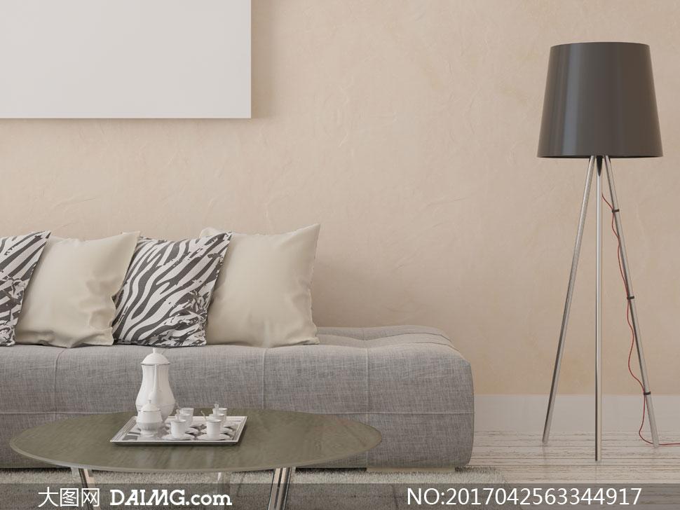室内家具枕头手绘图片
