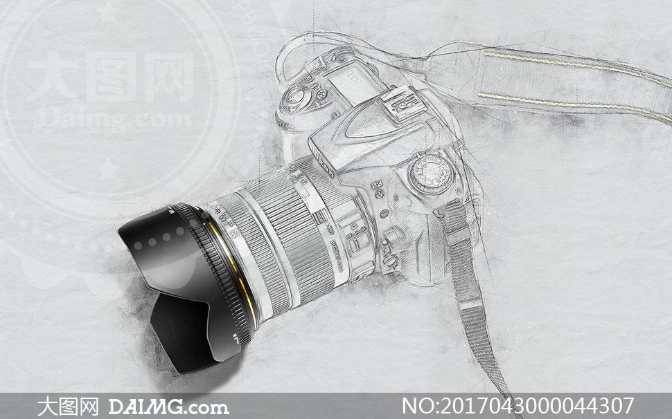 照片转3d风格素描铅笔画效果ps动作