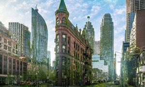 城市建筑照片转末日废墟特效PS动作
