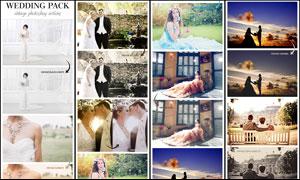 婚礼随拍照片复古艺术效果PS动作