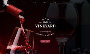 酒类等品类购物网站分层模板源文件