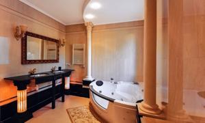 欧式豪华浴室内景装修效果高清图片