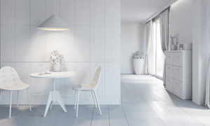 客厅陈设家装渲染效果设计高清图片