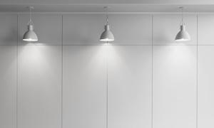 亮着灯的房间照明渲染效果高清图片