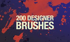 200款设计师喷溅和涂抹系列PS笔刷