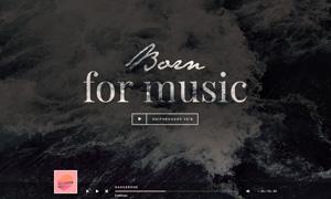 为音乐而生网站页面模板分层源文件