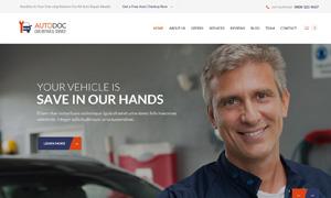 汽车配件与美容养护等网站设计模板