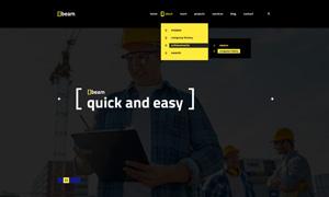 建筑装饰工程公司网站设计分层模板