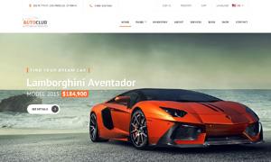 橙黑配色汽车网站页面布局设计模板