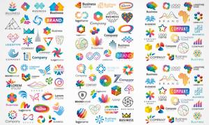 缤纷多彩图形元素标志创意矢量素材