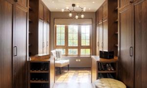 房间沙发椅与鞋柜衣柜摄影高清图片