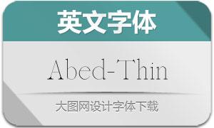 Abed-Thin(英文字体)