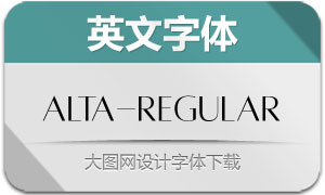 Alta-Regular(英文字体)