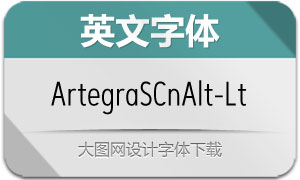 ArtegraSansCnAlt-Light(英文字体)