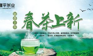 春茶上市宣传海报设计PSD源文件