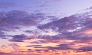 黄昏天空绚丽晚霞风光摄影高清图片