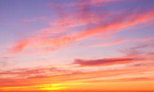 黄昏火烧一样的云风光摄影高清图片