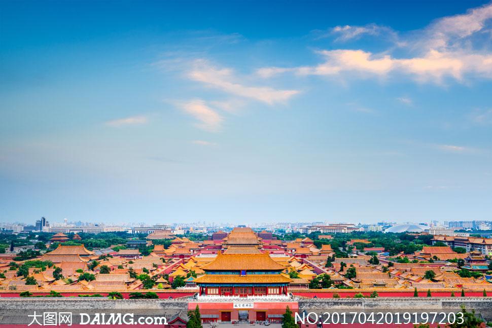 高清大图图片素材摄影自然风景风光天空白云云层云彩多云紫禁城故宫