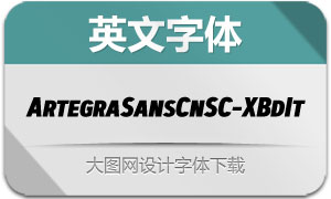 ArtegraSansCnSC-ExBdIt(英文字体)