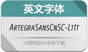 ArtegraSansCnSC-LtIt(英文字体)