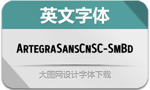 ArtegraSansCnSC-SmBd(字体)