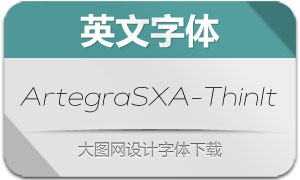 ArtegraSXA-ThinIt(英文字体)