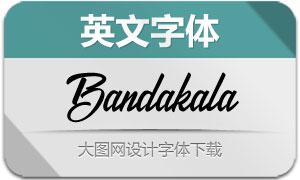 Bandakala(英文字体)