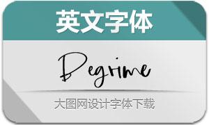 Begrime系列三款英文字体