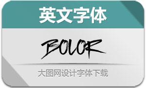 BOLOR(英文字体)
