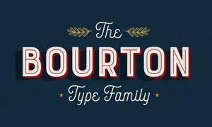 Bourton系列34款英文字体
