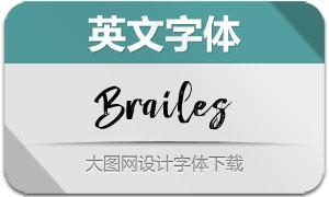 Brailes系列三款英文字体