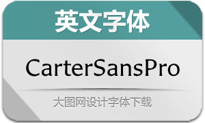 CarterSansPro系列8款英文字体