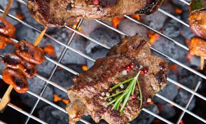 色香味俱全的烤肉特写摄影高清图片