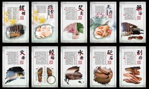 中医理疗文化宣传展板PSD源文件