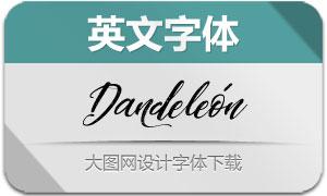 Dandeleón系列5款英文字体