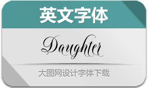 Daughter系列三款英文字体